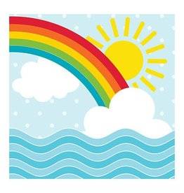 Creative Converting Noah's Ark - Rainbow Napkins, Beverage