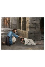 "Brent Borup Card - Christ with Repentant Man, 4"" x 3"""