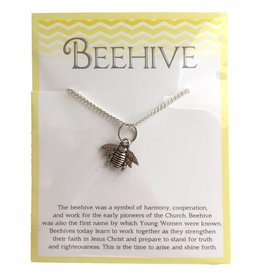 Popcorn Tree Beehive Necklace