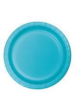 "Creative Converting Bermuda Blue - Plates, 7"" Round Paper 24ct"