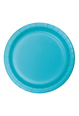 "Creative Converting Bermuda Blue - Plates, 9"" Round Paper 24ct"