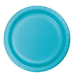 "Creative Converting Bermuda Blue - Plates, 10"" Round Paper 24ct"