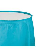 Creative Converting Bermuda Blue - Tableskirt, 14' Plastic