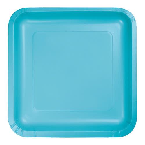 "Creative Converting Bermuda Blue - Plates, 9"" Square 18ct"
