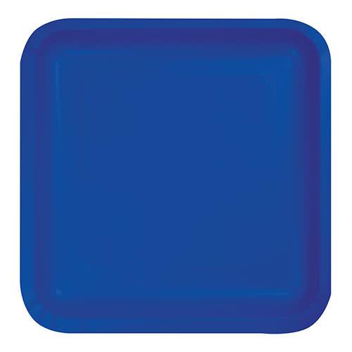 "Creative Converting Cobalt - Plates, 9"" Square Paper 18ct"