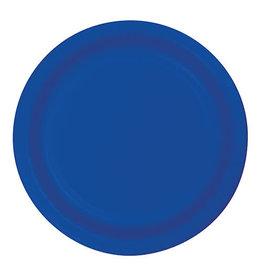 "Creative Converting Cobalt - Plates, 7"" Round Paper 24ct"