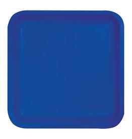 "Creative Converting Cobalt - Plates, 7"" Square Paper 18ct"