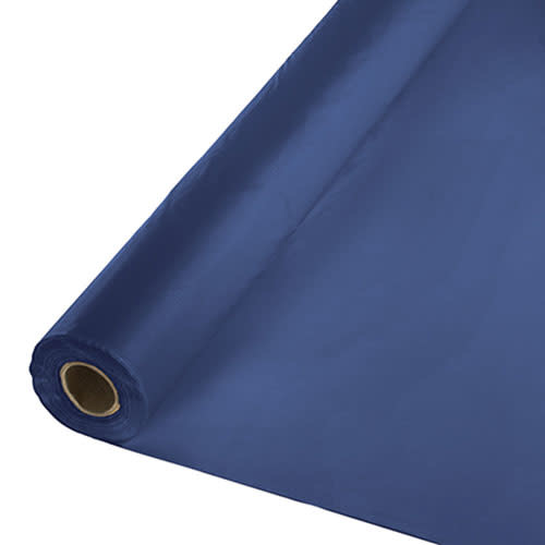 Creative Converting Navy -Table Roll, Plastic 100'