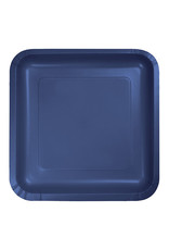 """Creative Converting Navy - Plates, 7"""" Square Paper 18ct"""