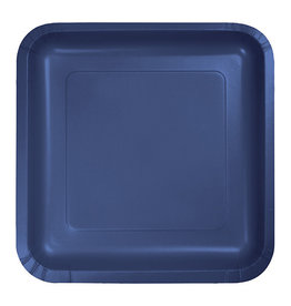 "Creative Converting Navy - Plates, 7"" Square Paper 18ct"
