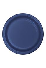 "Creative Converting Navy - Plates, 9"" Round Paper 24ct"