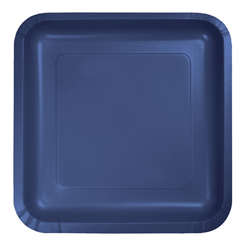 "Creative Converting Navy - Plates, 9"" Square Paper 18ct"