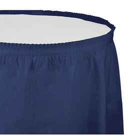 Creative Converting Navy - Tableskirt, 14' Plastic
