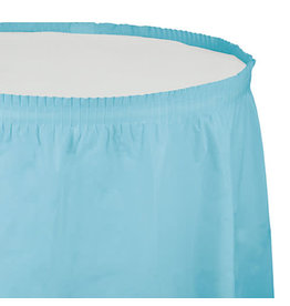 Creative Converting Pastel Blue - Tableskirt, 14' Plastic
