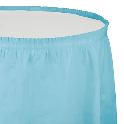 Creative Converting Pastel Blue - Tableskirt, 14' Plastic