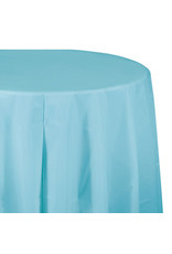 """Creative Converting Pastel Blue - Tablecover, 82"""" Rnd Plastic"""