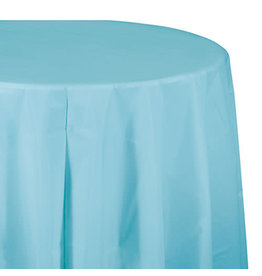 "Creative Converting Pastel Blue - Tablecover, 82"" Rnd Plastic"