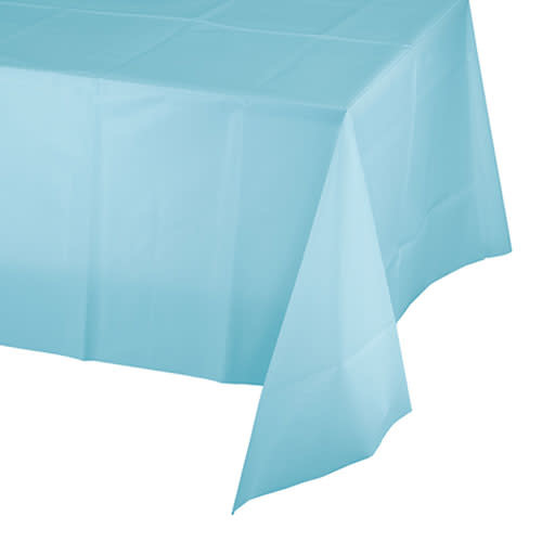 Creative Converting Pastel Blue - Tablecover, 54x108 Plastic