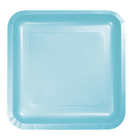 "Creative Converting Pastel Blue - Plates, 9"" Square Paper 18ct"