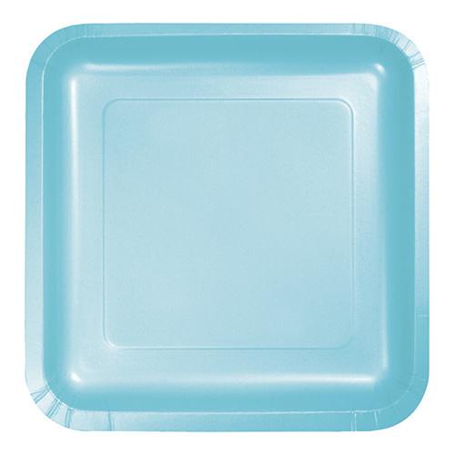 "Creative Converting Pastel Blue - Plates, 9"" Square Paper 18ct"