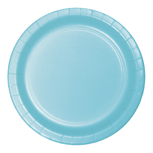 "Creative Converting Pastel Blue - Plates, 9"" Round Paper 24ct"