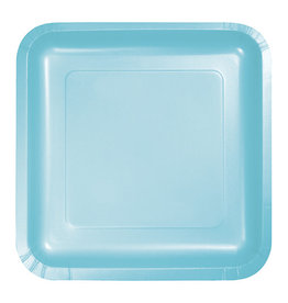 "Creative Converting Pastel Blue - Plates, 7"" Square Paper 18ct"