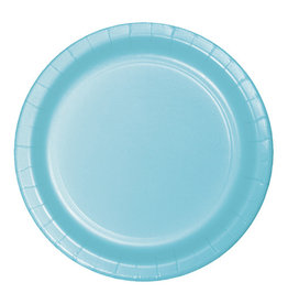 "Creative Converting Pastel Blue - Plates, 7"" Round Paper 24ct"