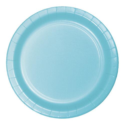 "Creative Converting Pastel Blue - Plates, 7"" Round Paper 24ct"