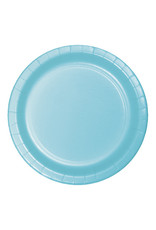 "Creative Converting Pastel Blue - Plates, 10"" Round Paper 24ct"