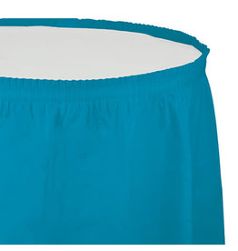 Creative Converting Turquoise - Tableskirt, 14' Plastic