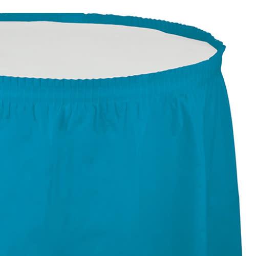 Creative Converting Turquoise - Tableskirt, 14' Plastic