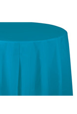 """Creative Converting Turquoise - Tablecover, 82"""" Rnd Plastic"""
