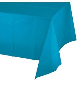 Creative Converting Turquoise - Tablecover, 54x108 Plastic