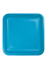 """Creative Converting Turquoise - Plates, 9"""" Square Paper"""