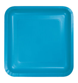 "Creative Converting Turquoise - Plates, 9"" Square Paper"