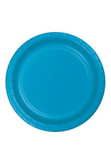 """Creative Converting Turquoise - Plates, 9"""" Round Paper 24ct"""