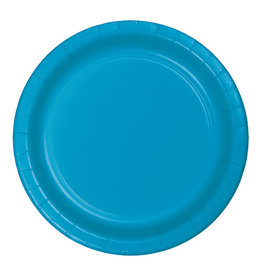 "Creative Converting Turquoise - Plates, 7"" Round Paper 24ct"