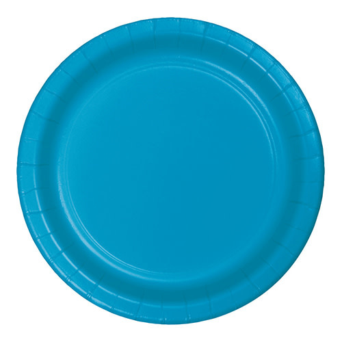 """Creative Converting Turquoise - Plates, 7"""" Round Paper 24ct"""