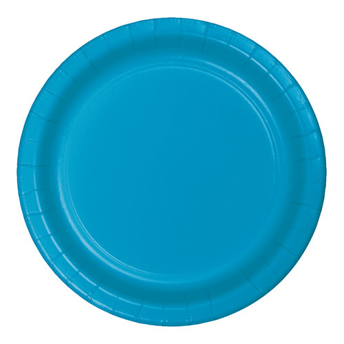 """Creative Converting Turquoise - Plates, 10"""" Round Paper 24ct"""