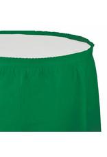 Creative Converting Emerald Green - Tableskirt, 14' Plastic