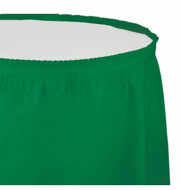 Creative Converting Emerald Green - Tableskirt, 14' Plastic