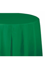 "Creative Converting Emerald Green - Tablecover, 82"" Rnd Plastic"