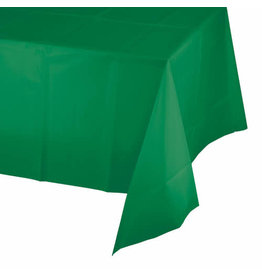 Creative Converting Emerald Green - Tablecover, 54x108 Plastic