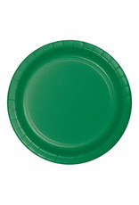 """Creative Converting Emerald Green - Plates, 9"""" Round Paper 24ct"""