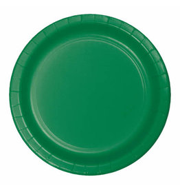 "Creative Converting Emerald Green - Plates, 9"" Round Paper 24ct"