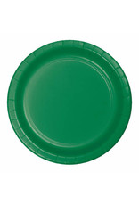 "Creative Converting Emerald Green - Plates, 7"" Round Paper 24ct"