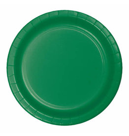 "Creative Converting Emerald Green - Plates, 10"" Round Paper 24ct"