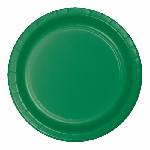 """Creative Converting Emerald Green - Plates, 10"""" Round Paper 24ct"""