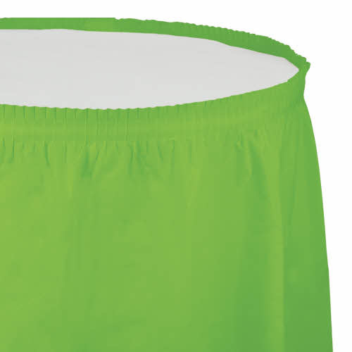 Creative Converting Fresh Lime - Tableskirt, 14' Plastic