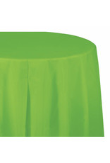 "Creative Converting Fresh Lime - Tablecover, 82"" Rnd Plastic"